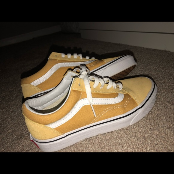 4f11860eec95 Mustard Yellow Old School Vans Size 5men 6.5women.  M 5b5a28879264afd20a0a06e1